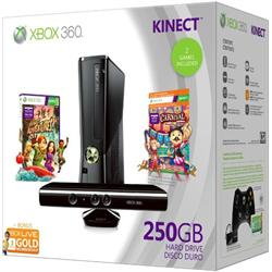 XBOX 360 S 250GB - KINECT HOLIDAY BUNDLE