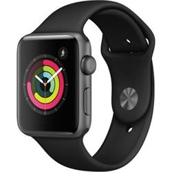 SERIES 3 42MM GPS SPACE GRAY ALUMINUM CASE BLACK SPORT BAND